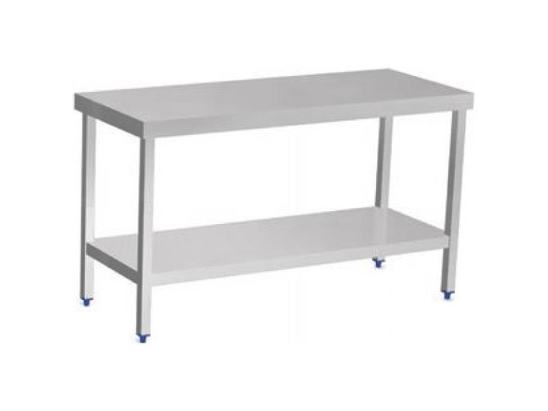 Rostfri Hylla Till Kok : Arbetsbord med hylla i rostfri rostfritt stol  nordmedo