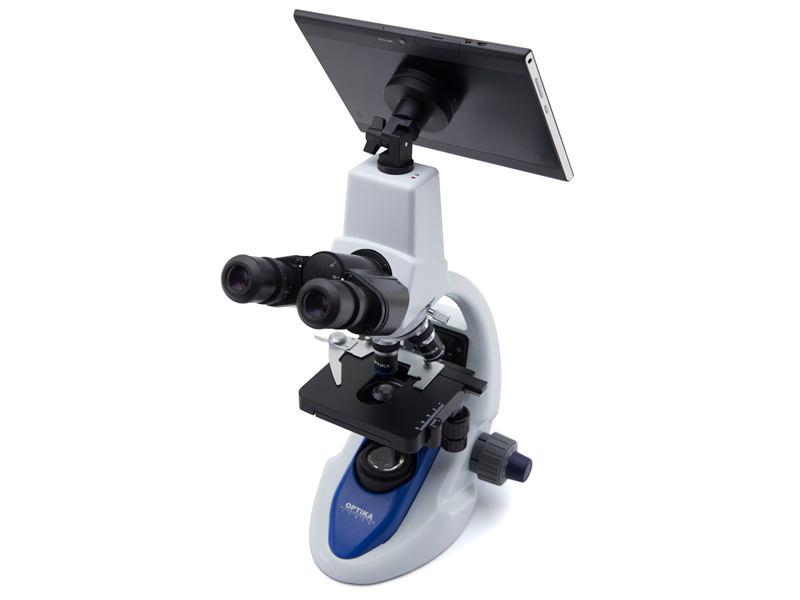 Mikroskop b 190tb med digital kamera och tablet nordmed